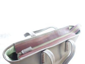 ファスナー付きトートバッグ