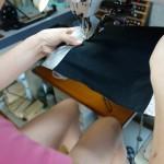 かぶせ部分の袋縫い