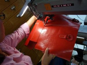 底付けミシン縫い