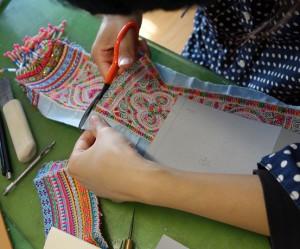 タイ刺繍帯